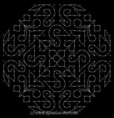 Put 22 dots - ten lines, leave one dot at both ends - one line and stop at 10 dots as shown abo. Indian Rangoli Designs, Rangoli Designs Latest, Rangoli Border Designs, Rangoli Designs With Dots, Rangoli Designs Images, Rangoli With Dots, Beautiful Rangoli Designs, Simple Rangoli, Rangoli Borders