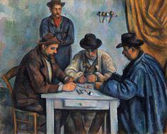 Paul Cézanne - Les joueurs de cartes - Huile sur toile, 65 x 81 cm - 1892-1893 - Metropolitan Museum of Art, New-York artismirabilis.com www.artismirabilis.com/actualite-litteraire-et-musicale/LYON/2013/Peggy-Guggenheim-un-fantasme-d-eternite-Veronique-Chalmet.html www.artismirabilis.com/actualite-litteraire-et-musicale/LYON/2013/a-la-decouverte-de-la-Vanoise-Parc-National.html www.artismirabilis.com/actualite-litteraire-et-musicale/LYON/2013/breve-histoire-de-la-mode-Catherine-Ormen.html