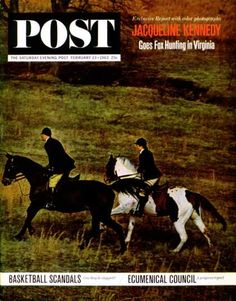 Saturday Evening Post - 1963-02-23: Jackie Foxhunting (Marshall Hawkins)