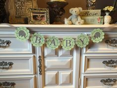 Elephant Baby Shower Banner Gender Neutral Baby by BulldogBabies