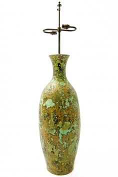 Green Mottled Vase
