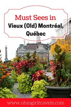 Montréal is a beautiful Canadian city, sure to impress. Check out this Montréal guide before your trip. It includes transportation in Montréal, places to stay in Montréal, food and drinks to try in Montréal, and things to see specifically in Vieux (Old) Montréal. It will certainly help plan your trip so you can make the most of your trip to Montréal. Don't forget to save this pin to your travel board! Montreal Canada   guide to Montreal   transportation in Montreal   accommodation in…