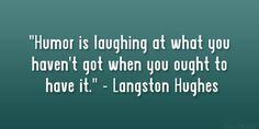 humor / langston hughes