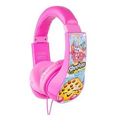Shopkins Kids Headphones by Sakar, Multicolor Kids Headphones, Plastic Canvas Tissue Boxes, Plastic Canvas Patterns, Beanie Boos, Polymer Clay Charms, Monster High Dolls, Toys For Girls, Little Girl Toys, Baby Toys