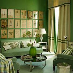 contemporary retro living room, luxe green sofa | home inspiration