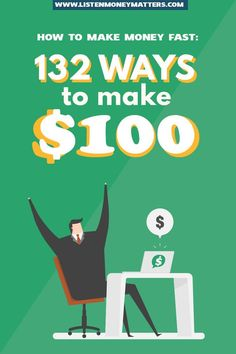 Looking to get some extra cash in your pocket lickety-split? Check out 25 ways how to make money fast. Make Money Fast, Make Money From Home, Make Money Online, Earn Extra Cash, Extra Money, Money Saving Tips, Money Tips, Mo Money, Financial Goals