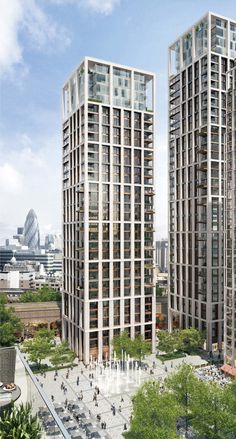 London's Shell Centre Awarded Planning Permission,Building 3 – residential use; Patel Taylor. Image Courtesy of The Canary Wharf and Qatari Diar Groups