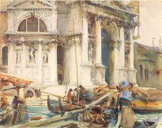 john singer sargent watercolor paintings | John SingerSargent's Santa Maria della Salute 1904