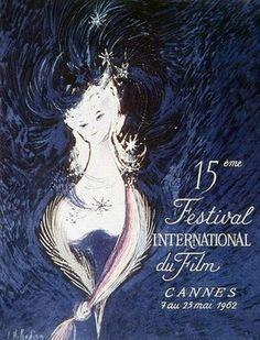 Festival de Cannes - 1962 / Palme d'Or : La Parole Donnée de Promessas Anselmo Duarte / L'affiche est une création originale de A.M. Rodicq