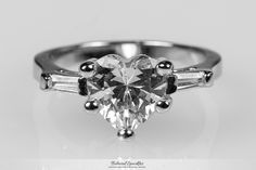 Hetty Heart Cut Solitaire Engagement Ring | 2.5 Carat | Cubic Zirconia