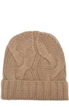 Кашемировая шапка Courchevel Loro Piana, бежевого цвета, арт. FAG5548 в ЦУМ | Фото №1