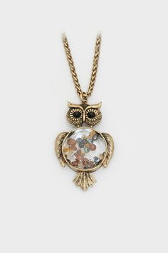 Crystal Owl Necklace on Emma Stine Limited