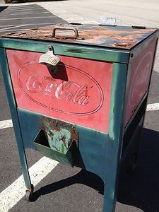 coke images rare | Original-Rare-1920s-Coke-Glasscock-Cooler-vintage-vending-machine-coca ...