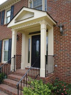 EXOVATIONS | Front Porch Photos, Portico Pictures, Front Entry Covered Porch Before and After Photos