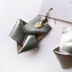 Statement Jewelry, Knots, Cufflinks, Earrings, Silver, Leather, Gold, Accessories, Ear Rings