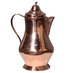 1stdibs.com | 19th c. Dutch Overscale Coffee Pot of Polished Copper