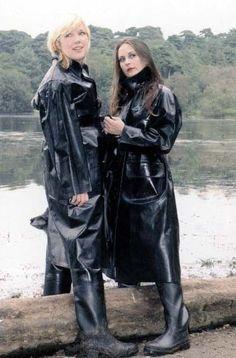 Black Rubber Raincoats