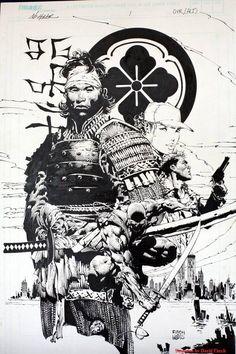 Samurai drawing by David Finch.