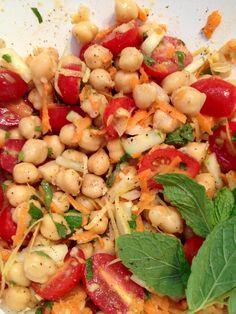 Mediterranean Chick Pea Salad #BeatTheHeat