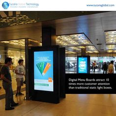 Our #Digital_Menu_Boards attract 10 times more #customer #attention than traditional static light boxes. #TucanaGlobalTechnology #Manufacturer #HongKong
