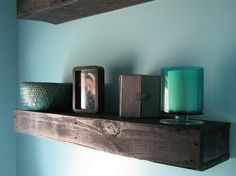 Wood pallet shelves. by cathleen