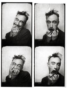 Yves Tanguy, photomaton, boulevard des Italiens, Paris 1928. I didn't used to pin the Surrealists making art and being deliberately arty in photo booths, but I'm tentatively branching out.