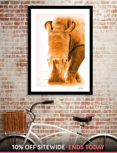 Discover «Rhino 6085 gold», Numbered Edition Fine Art Print by Barbara Fraatz - From $24.9 - Curioos Modern Prints, Fine Art Prints, Canvas Prints, Gold Art, Fine Art Paper, Artist, Artwork, Painting, Work Of Art