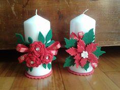 Decorare Candele Di Natale : Fantastiche immagini su candele decorate christmas