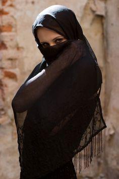 Islamic Black Veiled