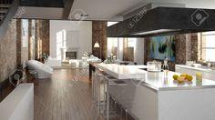 """Résultat de recherche d'images pour """"cuisine loft"""""""