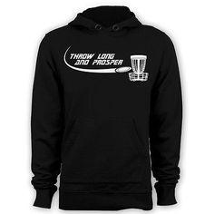 Throw long and prosper hoodie disc golf parody hoody