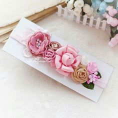Flower headband, a perfect addition to any outfit for our little one.