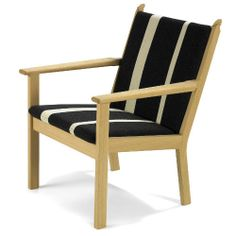 """Wegner 284 Easy Chair  Manufactured by: Getama Dimensions (in): 27 w   27.5 d    seat: 16.5 h  Apparently only available from danishdesignstore.com & http://www.designshopdenmark.com/getama-hans-j-wegner-armchair-284.  Several material options.  Prices & options listed only on second site. Another site describes this as an """"elderly care"""" chair! Price is 537.60 Euros.      $731.14  http://www.designshopdenmark.com/getama-hans-j-wegner-armchair-284"""