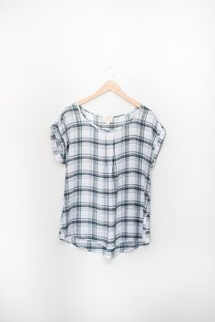Checkered Plus Size Top