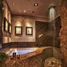 Love this shower bath arrangement
