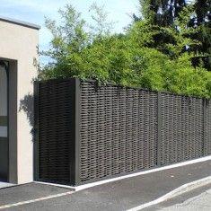 Woven Horizontal Cedar Fence Woven Fence Pinterest