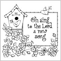 O Sing to the Lord a New Song coloring page