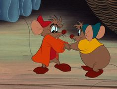Gus Gus, the fat mouse from Cinderella loves food, fighting and fun — need I say more?