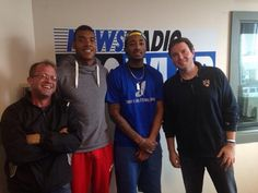 James Young and the KSR gang at the Clear Channel studio