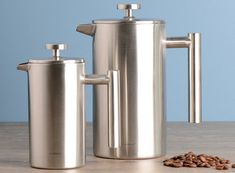 1 Litre Stainless Steel Cafetiere 8 Cup