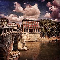 Photo from the Instacanvas gallery for ilaria_agostini. Rome, Bridge on Tevere River
