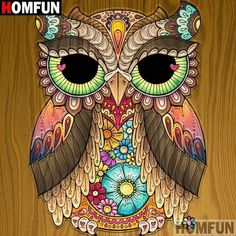 diamond embroidery owl diamond painting full drill square diamond mosaic pictures of rhinestones diamond paint decoration Mosaic Pictures, Owl Pictures, Dessin Game Of Thrones, Owl Artwork, Owl Cartoon, Cartoon Owl Drawing, Arte Country, Beautiful Owl, Owl Crafts