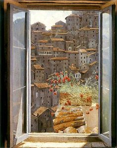 Edward Okuń (Polish, 1872–1945)  View from the Window  1905