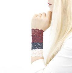 Apparel Accessories Lovely Women Bracelet Bride Drop Flower White Lace Arm Warmer Cuff Sweet Wristband Comfortable Feel