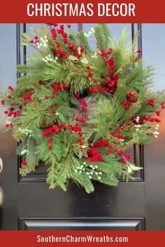 Decorate your front door or above your fireplace with a an artificial evergreen and berry wreath. You will use this for a Christmas decoration as well as through the winter months. This wreath is perfect for many styles of Christmas and winter decor!