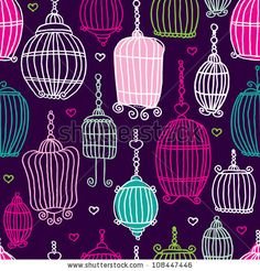 love this print.  /108447446/stock-vector-seamless-vintage-bird-cage-pattern-background-in-vector-108447446.jpg