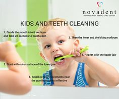 Kids and Teeth Cleaning In children, #teeth should be cleaned as soon as they emerge. By starting early, your baby gets used to the daily routine. A soft washcloth wrapped around your finger can substitute for a brush when teeth first appear. Ask your #dentist when you should switch to a toothbrush. http://www.novadenttly.com/