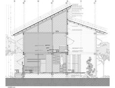 Section Drawing Architecture, Roof Architecture, Architecture Details, Planer Layout, Construction Drawings, Roof Detail, Architectural Section, Detailed Drawings, Stone Houses