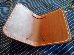 Leather wallet, handmade, hand stitched. (FREE UK SHIPPING) by SleepingDogsLeather on Etsy