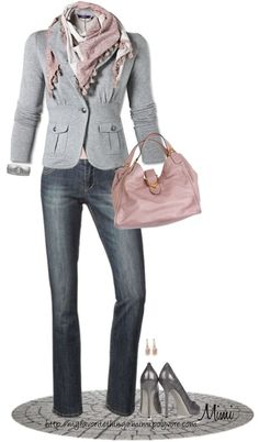 Pink & Grey Casual work wear